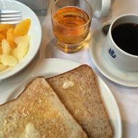 簡素な朝食