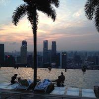 夕方のプールからの景色