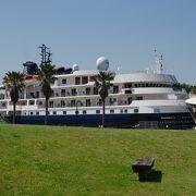 マリーナ萩へ豪華客船、カレドニアンスカイの入港を見学に行きました