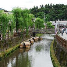 小野川沿いでは整然とした風景が楽しめました