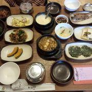 韓国定食を満喫できました