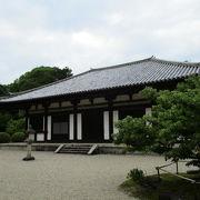 秋篠寺の伎芸天像。