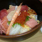 海鮮丼を食べました