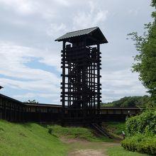 井楼矢倉・・・登ることができます。