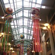 岡島百貨店の北側に位置するアーケード付きの商店街