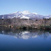 妙高山を映す鏡