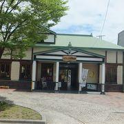 七日町駅の駅舎がカフェになっていました。