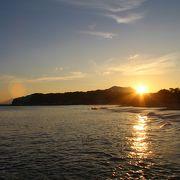 日本海越しに指月山が綺麗に見えます