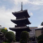 臼杵の古い町なみの入口にそびえる塔