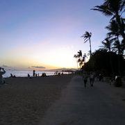 砂浜が広い