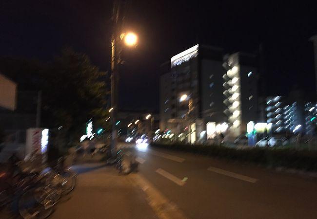 大阪ガーデンパレスのすぐ前の天然温泉