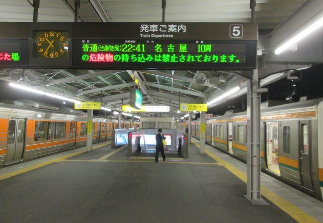 終点、始発電車が多い