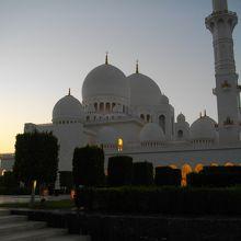 夕焼けのモスク