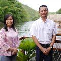 川に浮かぶホテルは、星の宝石箱