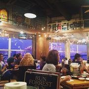 東京湾の絶景を観ながら食事