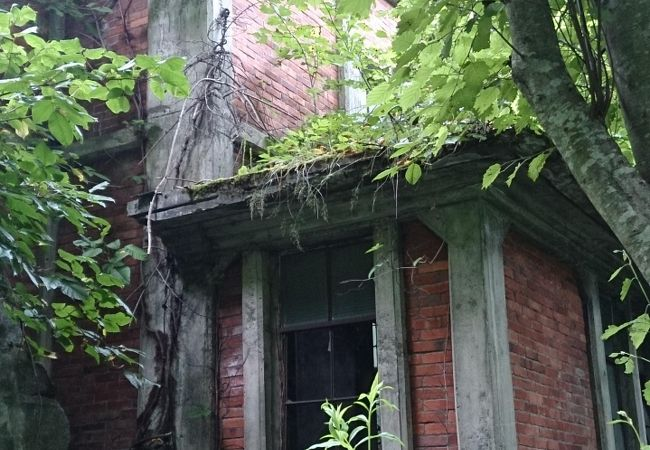 旧北炭幌内炭鉱布引立坑櫓跡