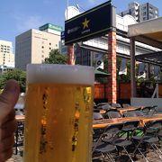 公園内を移動しながらハシゴビール!