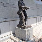 浅井忠の像