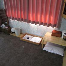 宿泊をした部屋です。