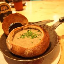 マッシュルームのスープ! 超美味しかった〜☆