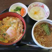 川俣シャモ丼セットが美味しい!