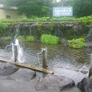 冷たい湧水