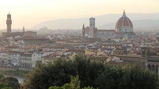 この場所から眺めるフィレンツェの景色は絶景です