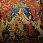 貴婦人の一角獣のタペストリーは圧巻。修道院を利用した美術館自体も魅力です。