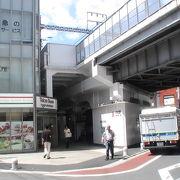 通勤族の乗換駅です、駅舎の近くにはアーケードの商店街もあり便利です