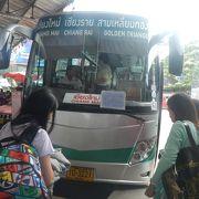 チェンライからチェンマイまでバスに乗る