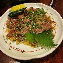 ラム肉のたたきです。