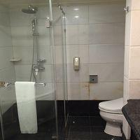 シャワーとトイレ。手前にジャグジーがあります