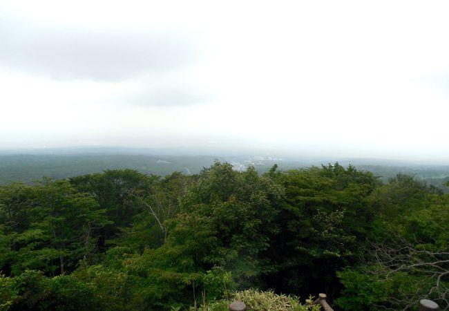 高原方向の景色