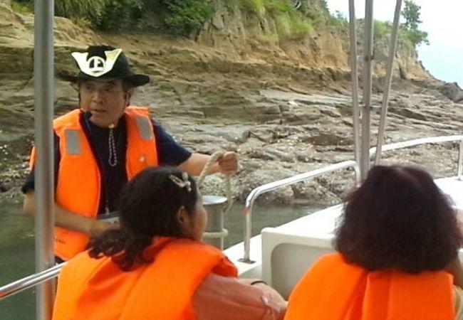 能島上陸と潮流体験クルージング