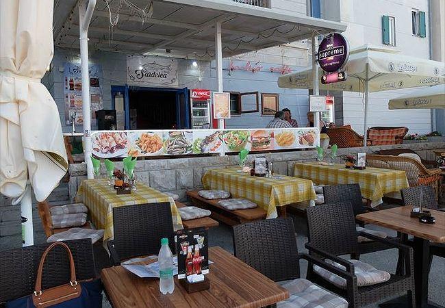 アドリア海の夕日がきれいだったシーフード・レストラン兼バー