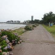 蟹田港のすぐそば