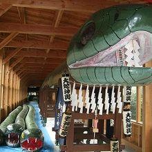 長さ108.22m、重量2トンの大蛇みこし