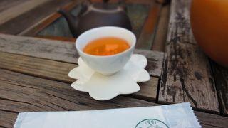 景色を一望できる高級茶屋