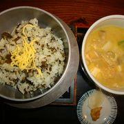 黒川温泉街で郷土料理を頂く。