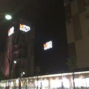駅前のショッピングビル。