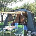 遊具がたくさんあるキャンプ場