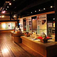 化石の展示室