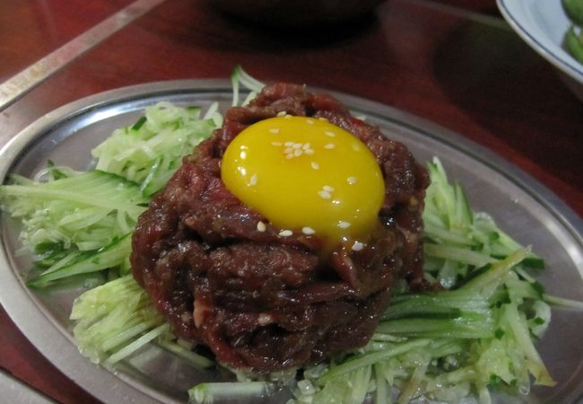 毎晩通う、ロタの味?日本の味。ユッケも食べられます。