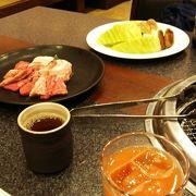 グランヴィリオホテルにある広い空間のある焼肉レストラン