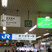 環状線の便利な駅。階段を降りると、、。【新今宮駅】