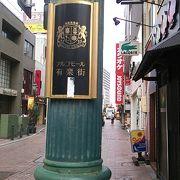飲食店の比率が多い浜松市中心部北西寄りにある商店街