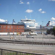ストックホルムの港です。