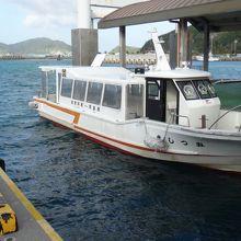 船内航路のボート