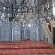 モスク内のタイル