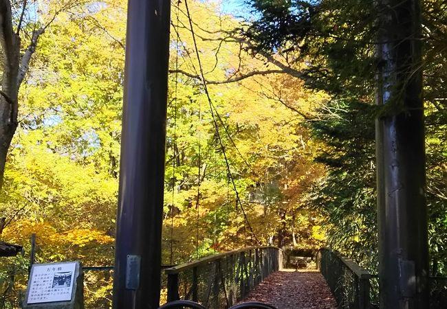 地上30mの吊橋